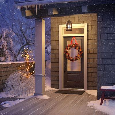 Environmental holiday decorating for your exterior entrance—the green way to deck the halls