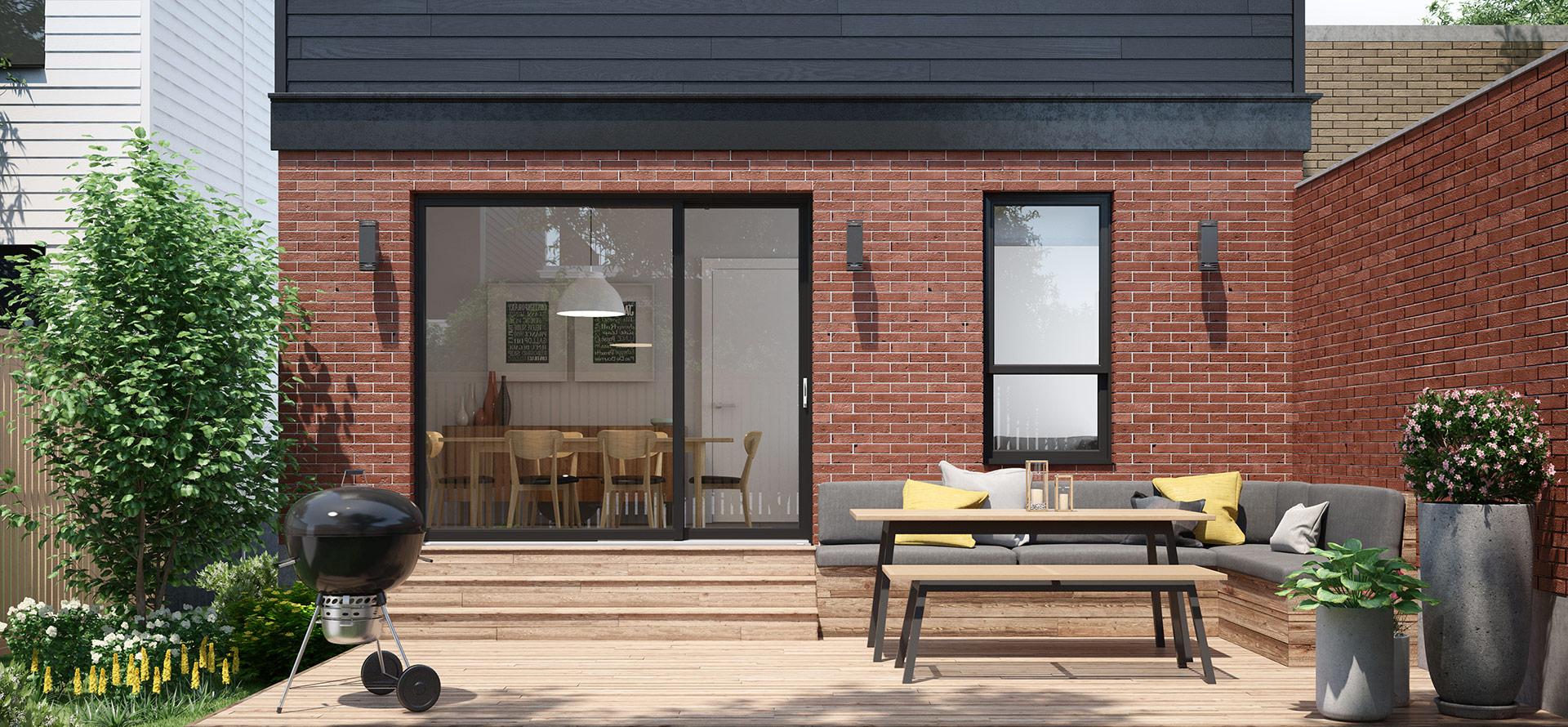 Portes patio asymétriques