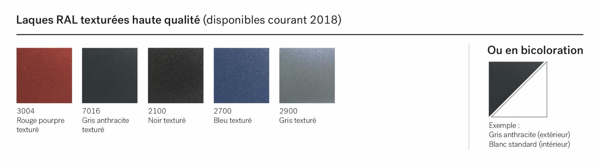 Laques RAL texturées haute qualité